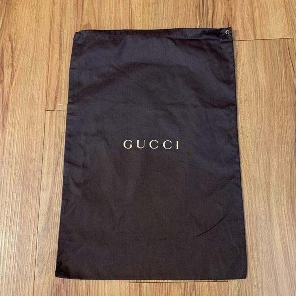 GUCCI Brown Shoe Dust Bag